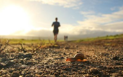 How do you deal with difficult moments in a mountain race?